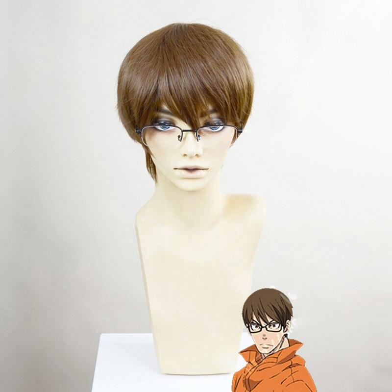 Anime fuego fuerza Enen no Shouboutai traje Takehisa Hinawa Cosplay pelucas de pelo sintético a prueba de calor de Halloween accesorios de carnaval