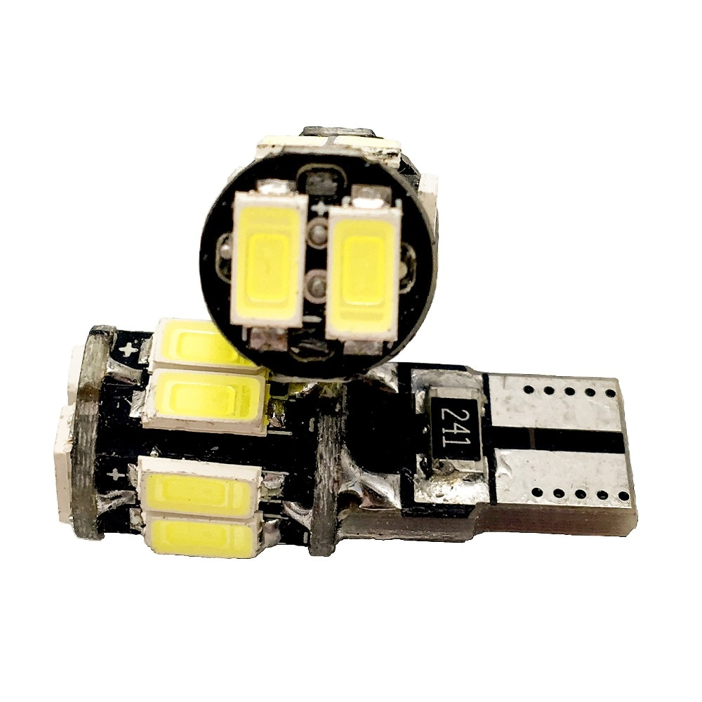 T10 Canbus!! 200X No Error CANBUS T10 5630 10SMD Car Auto LED Can bus Error Free 10 Led Interior Led Light Bulbs White 300LM