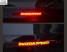 Karbon fiber araba çıkartmaları Yüksek monte stop lambası 2009-2013 MAZDA 6 için