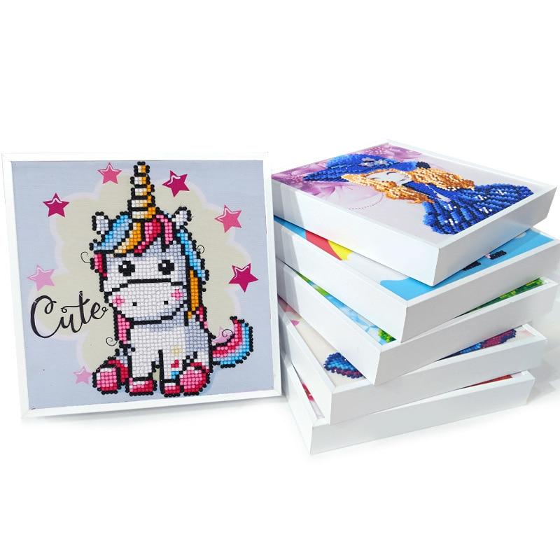 5D набор алмазных картин ручной работы Детский мультяшный Единорог Лошадь мозаика вышивка крестиком набор с рамкой декор комнаты