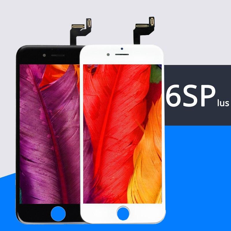 5 unids/lote 100% sin píxeles muertos AAA para iPhone 6S Plus pantalla LCD pantalla táctil 5,5 pulgadas digitalizador montaje reemplazo gratis DHL