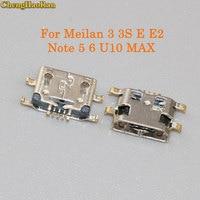 ChengHaoRan 50-100pcs Micro USB Jack Connector Charging port socket female For Meizu Meilan 3 3S M3 M3S E E2 Notes5/6 U10 MAX