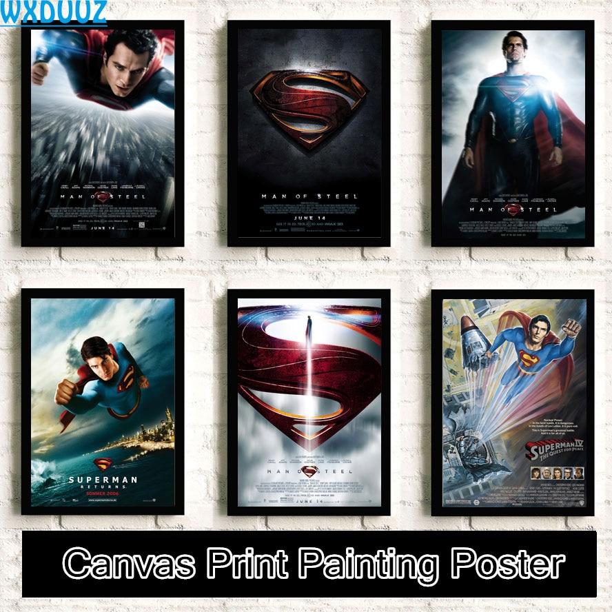 Superman película pintura de calidad decoración del hogar HD, decoración del hogar, habitación carteles de vida cuadro sobre lienzo para pared sin marco K19