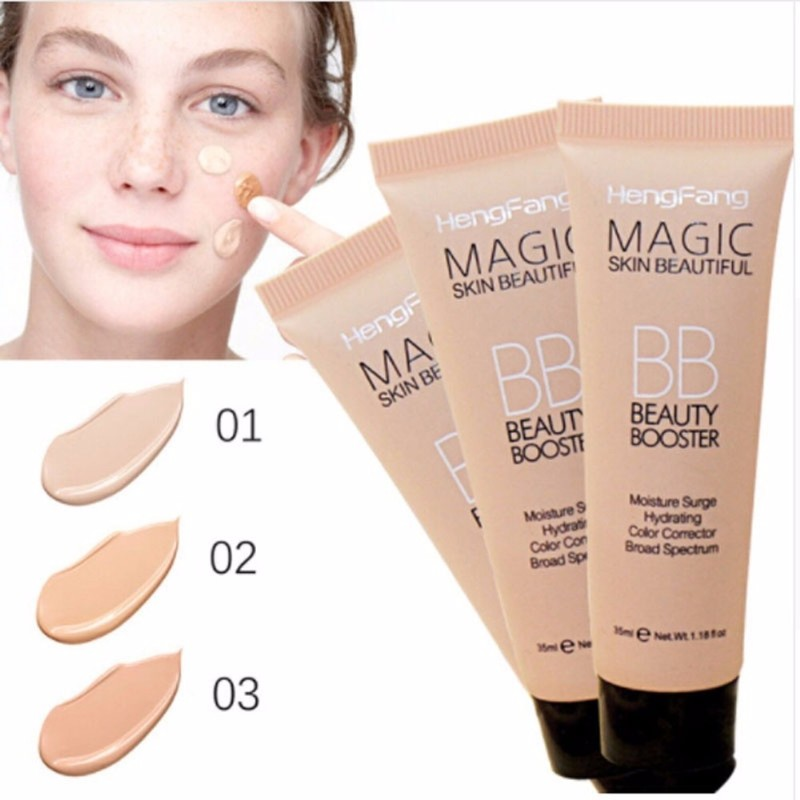 Nuevo Kit de maquillaje con Base iluminada, bloqueador solar de larga duración, resistente al agua, blanqueamiento facial, marca de Base Hengfang BB Cream Drop ship TSLM2