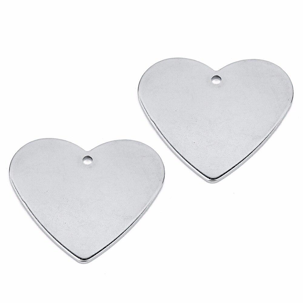 LOULEUR 10 sztuk ze stali nierdzewnej metalowy kształt serca złącza dla bransoletki wisiorki puste Diy piękna biżuteria zadatki ustalenia