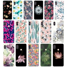 168SD   Relief Flower Soft Silicone Tpu Cover phone Case for xiaomi redmi 6 Pro 6A note 5 6 Pro mi 8