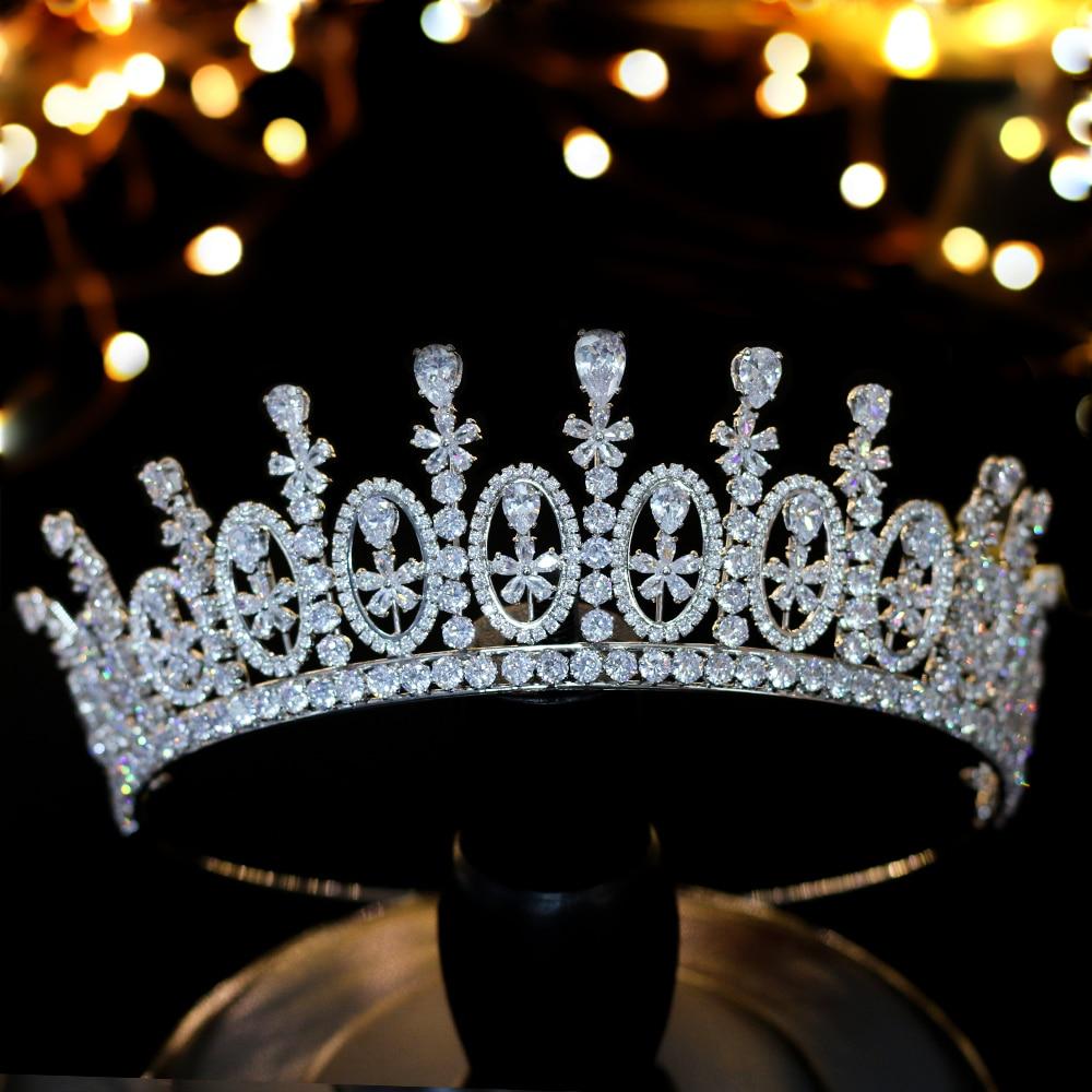 Cena de accesorios para el cabello corona de circonio palacio europeo de...