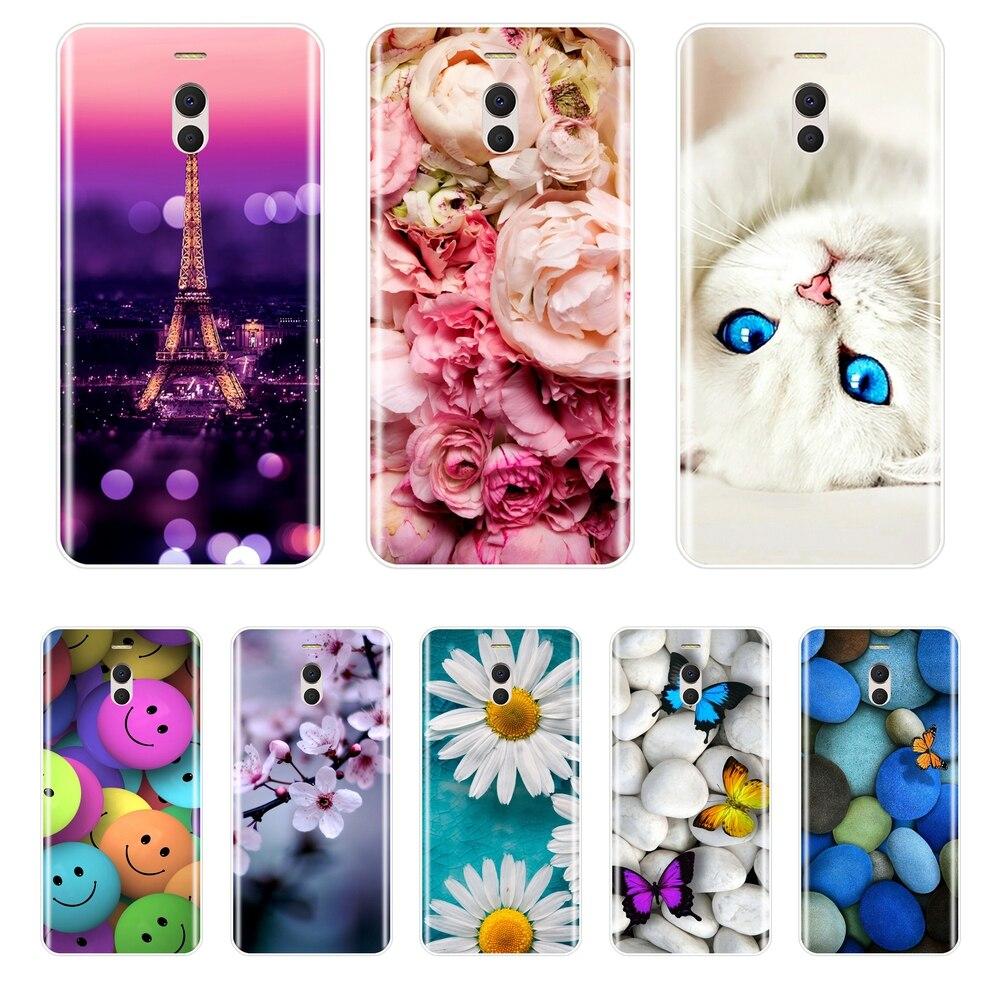Funda de teléfono para Meizu M6, M6S, M5C, M5, M5S, M3S, M3, M2, silicona suave, TPU, bonita funda trasera de Gato pintado para Meizu M6, M5, M3, M2, Note