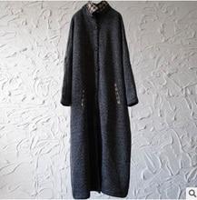 Nouveaux produits répertoriés à lhiver 2016, le design original lâche gros yards épaississement du manteau de laine des femmes