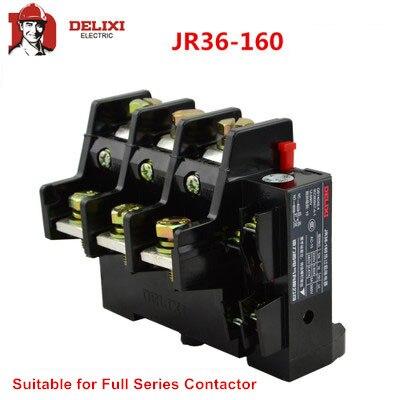 DELIXI JR36-160 Motor Protector relé Motor 53-160A sobrecarga fase romper relé térmico
