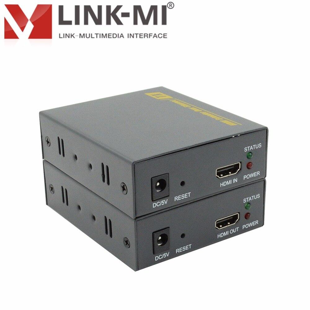 LINK-MI LM-DT100A Cable único Cat5e/6, extensor Full HD 1080P 120m HDMI sobre TCP/IP con extensión de señal de alta definición HDCP
