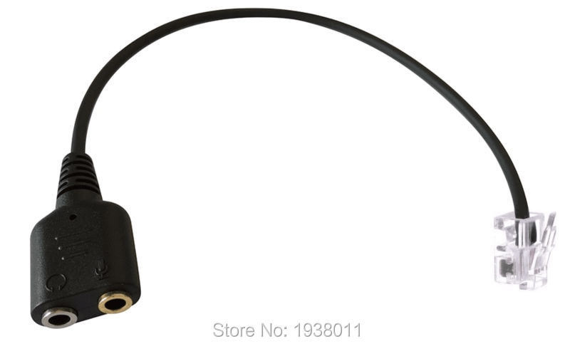 Adaptador de auriculares Buddy auriculares de PC para CISCO Phone Adapter-Dual 3,5mm a RJ9/RJ10/RJ11 adaptador RJ11 auriculares adaptador PC auriculares