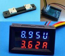 200V 50A mit 50A Shunt DC Digital Voltmeter Amperemeter LED Amp Spannung Meter für 12v 24v 48v batterie