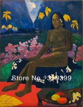 Nude Oil Painting Reproduction on Linen cavas,The Seed of the Areoi,100%handmade,gustav klimt oil painting