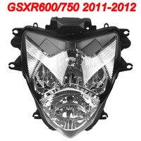 For 11-12 Suzuki GSXR600 GSXR750 GSXR GSX-R 600 750 Motorcycle Front Headlight Head Light Lamp Headlamp CLEAR 2011 2012