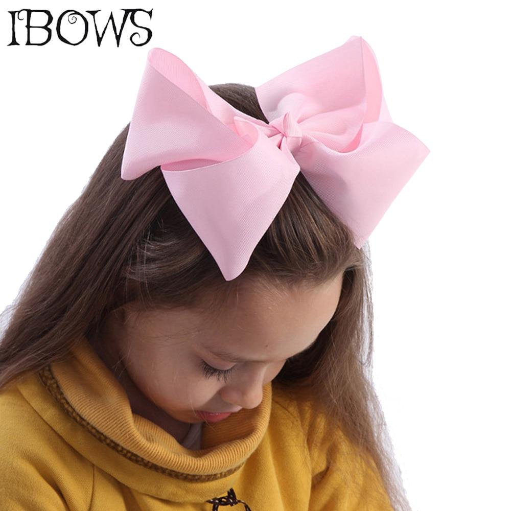 "60 colores Boutique 8 ""Grande Solid Grosgrain cinta pelo Bow Clips pasadores para las mujeres niñas Accesorios"