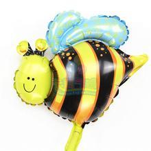 Mini ballon dabeille gonflable 10 pièces/lot   Jouet en forme de globo dhélium et dair, animal insecte gonflable, pour décoration de mariage, fête danniversaire, MN072