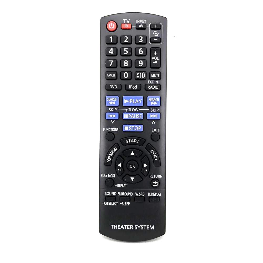 New Original For Panasonic N2QAYB000624 TV DVD AV Theater System Remote Control DVD TV Player Fernbedienung