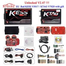 2019 On-Line Maestro KESS V2.47 Ktag V7.020 V2.23 No Token Limite K Tag 7.020 v2.25 ECU Programmatore K-Tag ECU Chip Regali ECM Winols