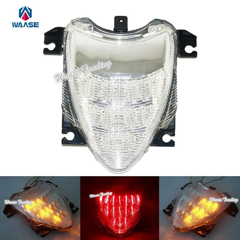 مصابيح فرامل السيارة الخلفية Led ، ضوء الفرامل مع إشارات الانعطاف المتكاملة ، واضح ، لسوزوكي ستريت M109R VZR1800 M1800R 2006 2007 2008 2009 2010 2011-2016
