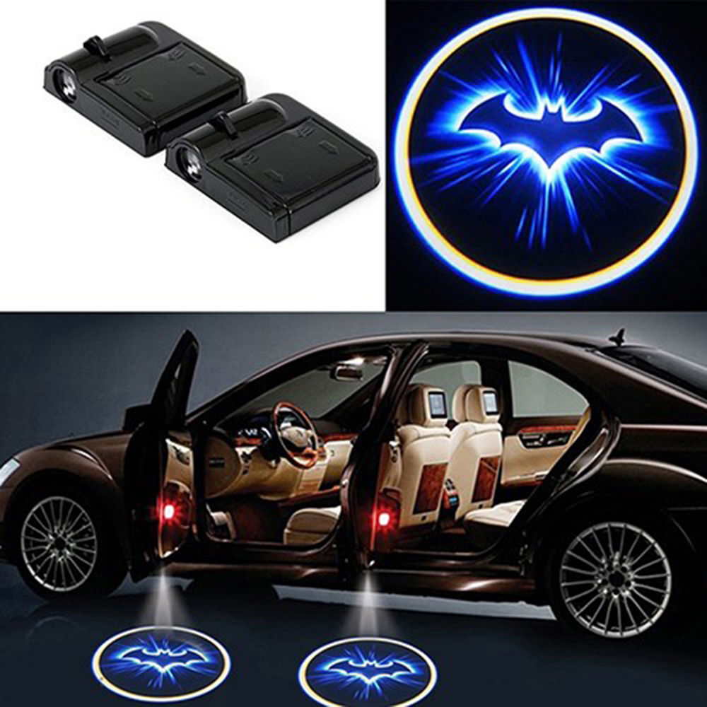 SEKINEW coche inalámbrico Logo de murciélago decoración de puerta luz sombra LED proyector láser de cortesía lámpara accesorios interiores adornos