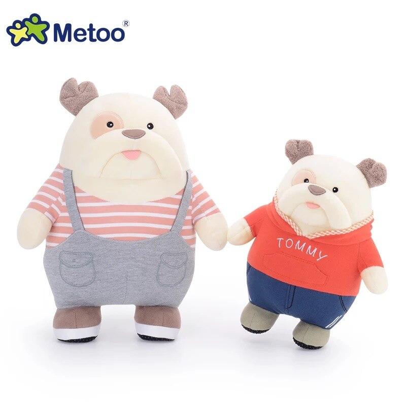 25cm lindo dibujos animados metoo bulldog boss costume dog dolls juguetes de peluche Animal relleno doll para niños cumpleaños regalo de Navidad