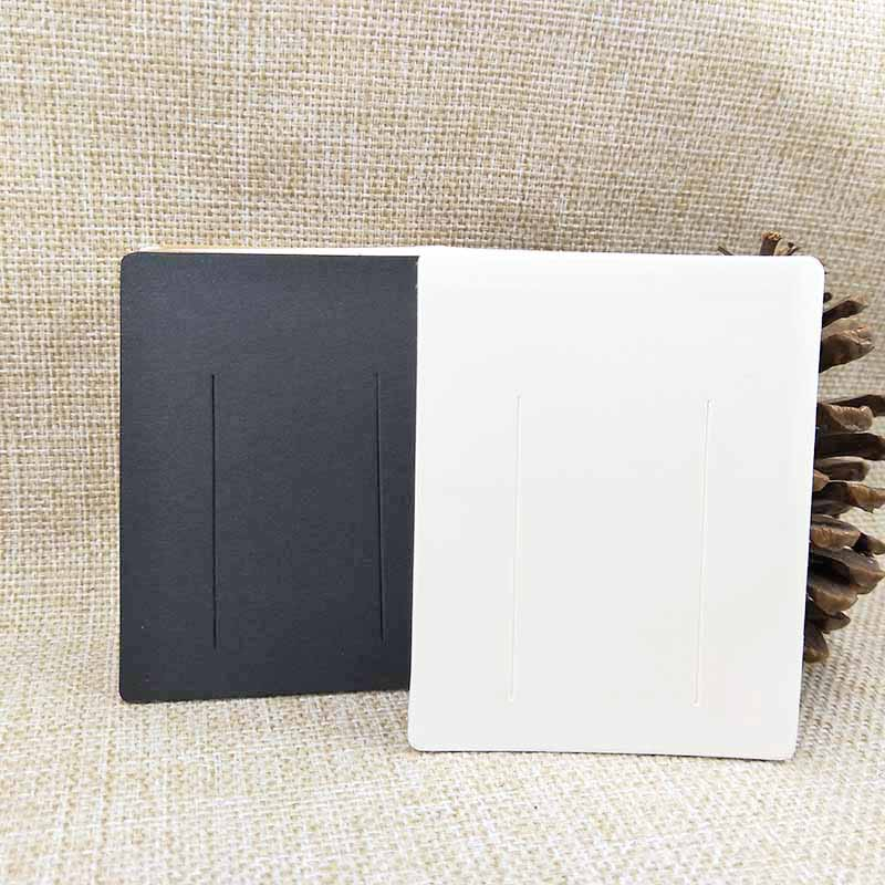 100 шт 7*9 см белый/крафт/черный Сделай Сам пустая заколка для волос дисплей карта женская заколка продукты Упаковка карта персонализированный логотип в наличии