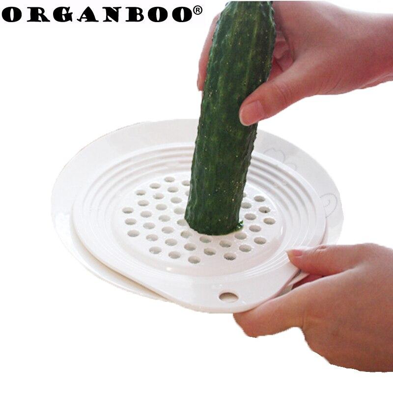 ORGANBOO 1PC Hanging double-sided round potato mashers garlic mud grinder vegetables and fruit grinder