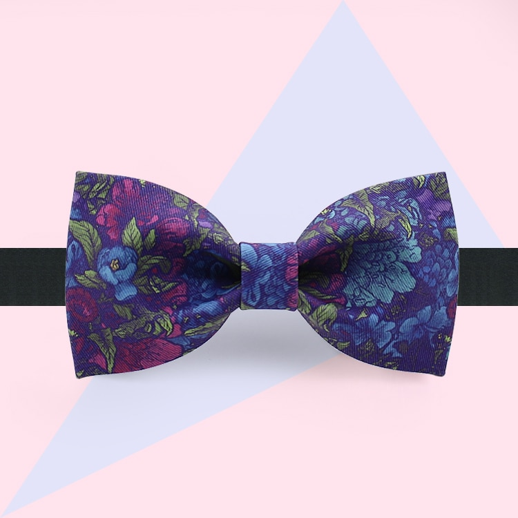 free shipping New casual 2018 male MEN'S Original design fashion print bow tie flower party banquet party secret incense
