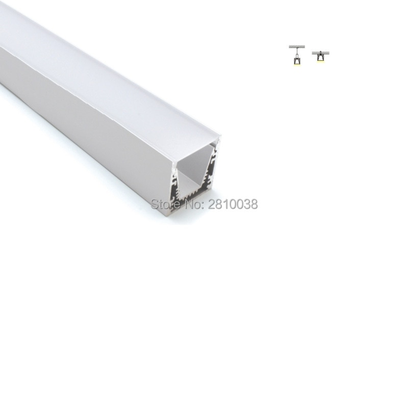 100 X 2M Sets/Lot Linear light aluminum profile for led stripes square shape aluminium led extrusion for suspending lights