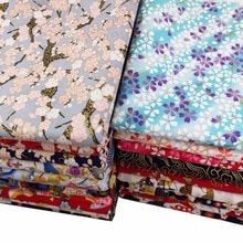 DIY tablecloth craft quilting handwork decor Cotton satin bronzed Reactive print Japanese style carp sakura Plum blossom fabric