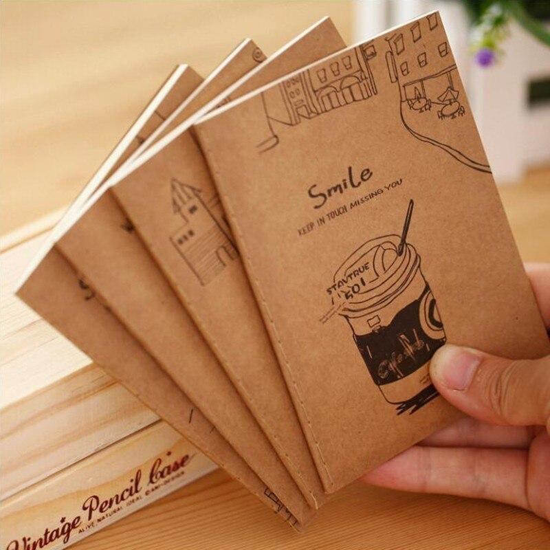 Japonês pequeno fresco bom tempo kraft papel caderno colorido padrão animal bloco de notas papelaria do escritório e material escolar
