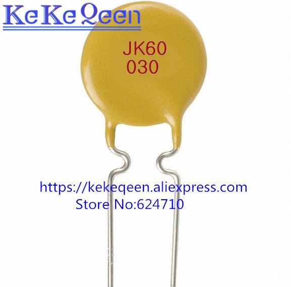 50 unids/lote la recuperación fusible JK60-030 300mA 60V 0.3A PTC auténtico pptc original