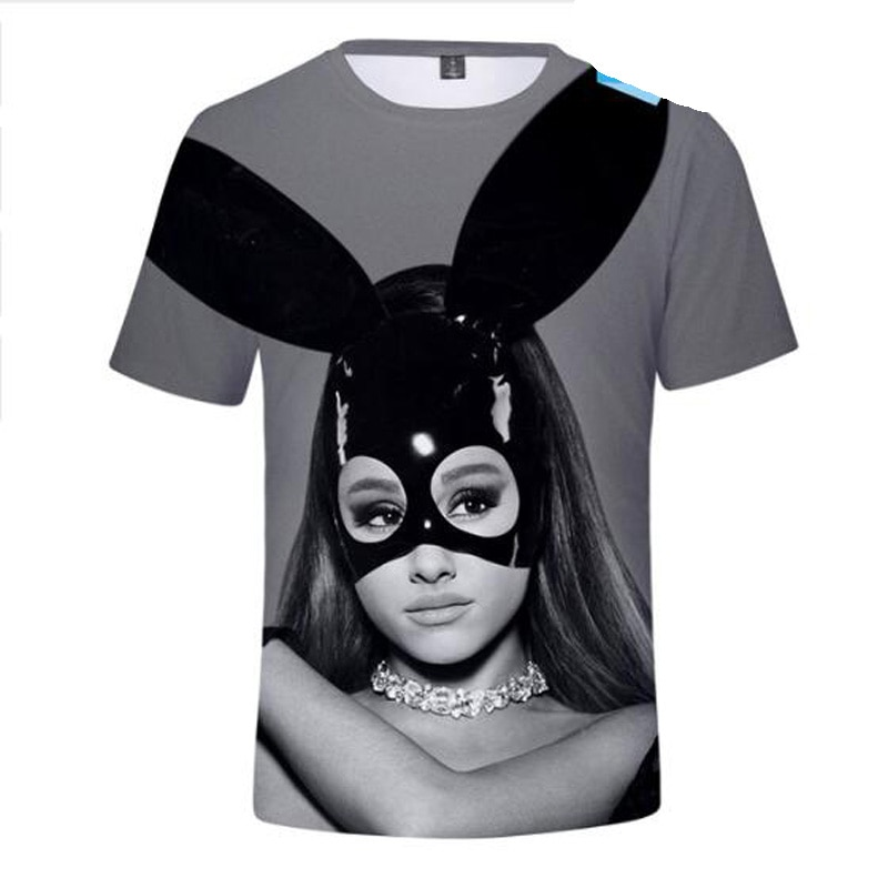 Ariana Grande 3D футболка, женские футболки с коротким рукавом, мужские женские футболки с героями мультфильмов