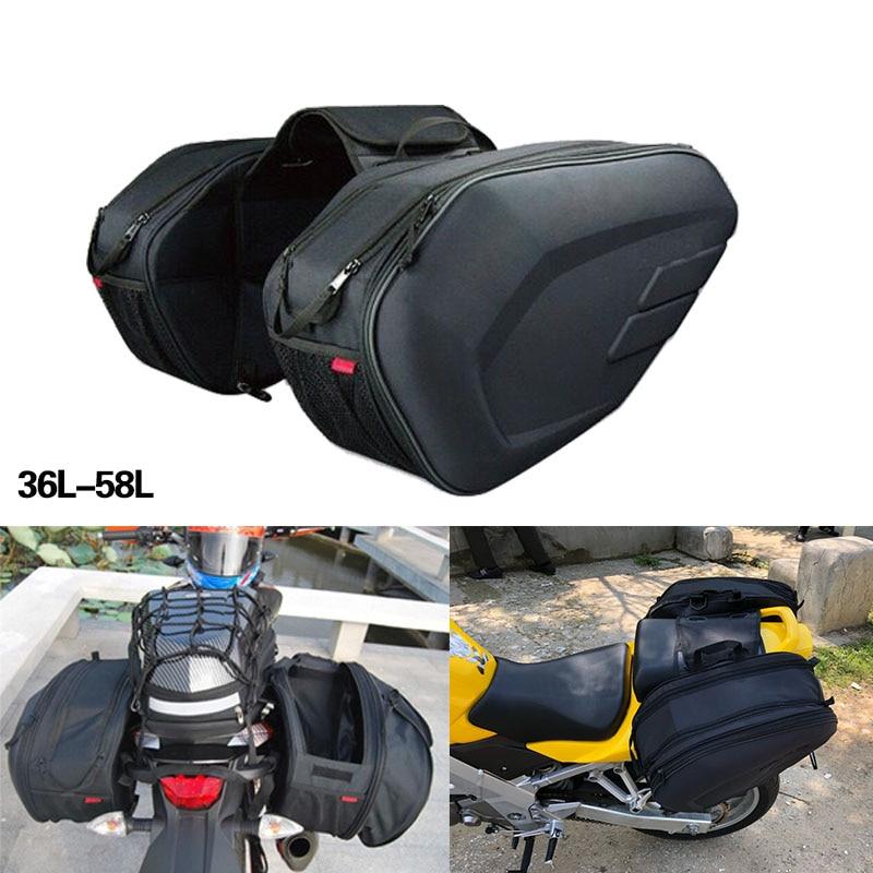 Neue Motorrad Werkzeug Tasche Taschen Gepäck Sattel Taschen mit Regen Abdeckung 36-58L Wasserdicht Für motor suzuki KTM PIAGGIO Aprilia Motor