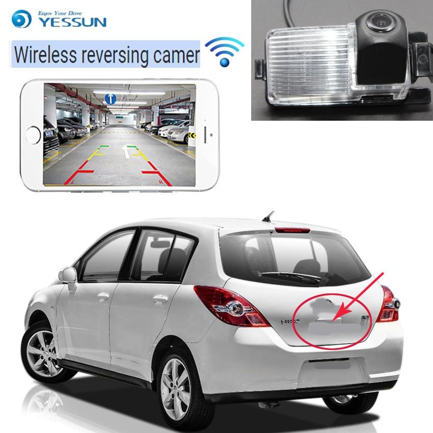 YESSUN car wireless Rear view Camera For Nissan Tiida Versa Latio C11 Hatchback 2004-2012 car  CCD Night Vision Reverse Camera