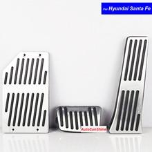 Auto-interieur Onderdelen Aluminium Benzine Clutch Brandstof Brake Remmen Pad Pedalen Rust Plaat voor Hyundai Santa Fe Auto pedalen