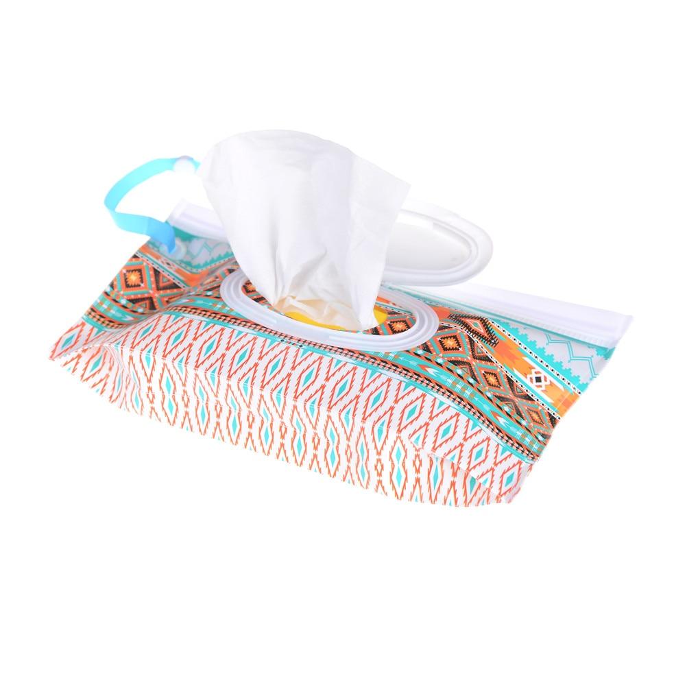 Bolsa de toallitas húmedas respetuosa con el medio ambiente, toallitas de fácil transporte con correa de presión, contenedor, bolsa de cosméticos con cubierta, embrague y toallitas limpiadoras Estuche de transporte