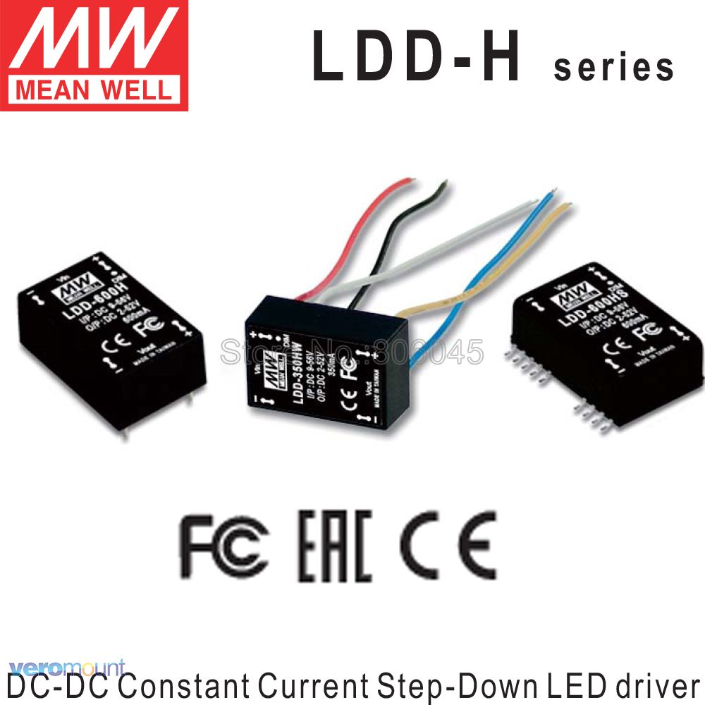 Meanwell LDD-350H LDD-500H LDD-600H LDD-700H LDD-1000H DC - DC Constant Current Step-Down LED Driver LED Coverter