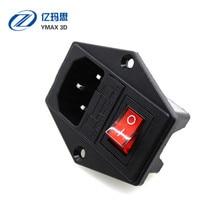 Interrupteur à bascule IEC 3 broches 320 C14 prises dalimentation interrupteur connecteur prise 10A 250 V