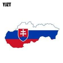 YJZT 14,3 см * 7 см аксессуары мотоцикл Словакия карта флаг наклейка стикер автомобиля 6-0906