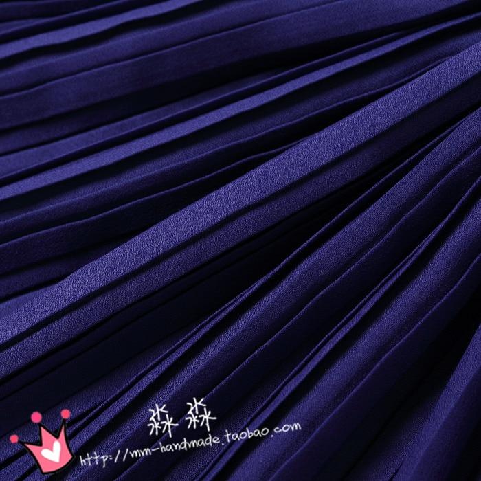 1psc 2016 Горячая Распродажа, стильные Короткие плиссированные юбки из хлопка с глубоким жемчугом фиолетового и голубого цвета, плиссированные...