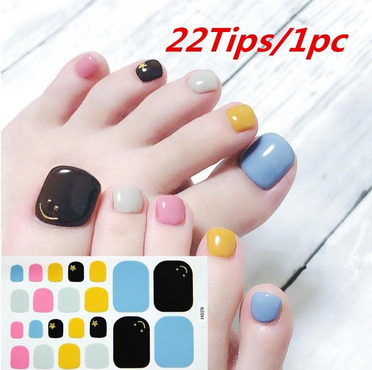 22 puntas, pegatina para uñas de pc, pegatina para uñas de aceite, pegamento adhesivo para uñas, resistente al agua 22