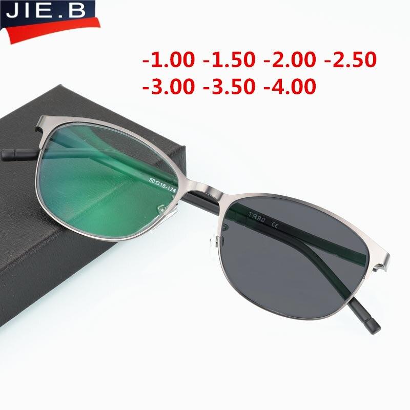 Ретро очки солнцезащитные очки переход фотохромные близорукость очки Мужчины Женщины полный кадр очки рецепт очки Рамка очки с диоптриями очки круглые -1 -2 -3 -4