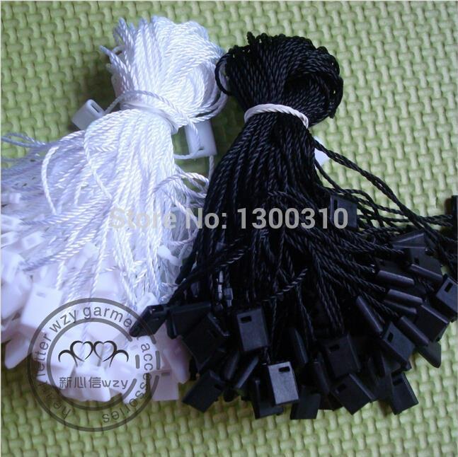 Free shiping High quality black and waite hang tag string hang tag strings cord for garment stringing price hangtag or seal tag