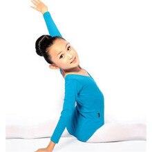 Großhandel Kind Mädchen Lange Hülse Ballett Tanz Kleid Fitness Gymnastik Tragen Trikot Kostüm F2