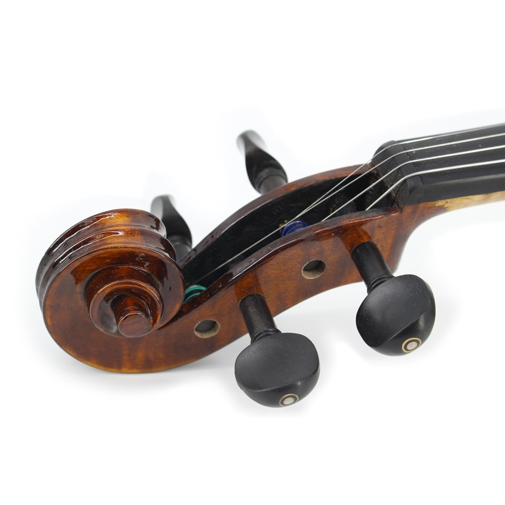 TONGLING Hand-craft Full Size Advanced Violin Oil Varnish Naturel Flamed Maple Antique Violin 4/4 Spruce Plate Ebony Fitted enlarge