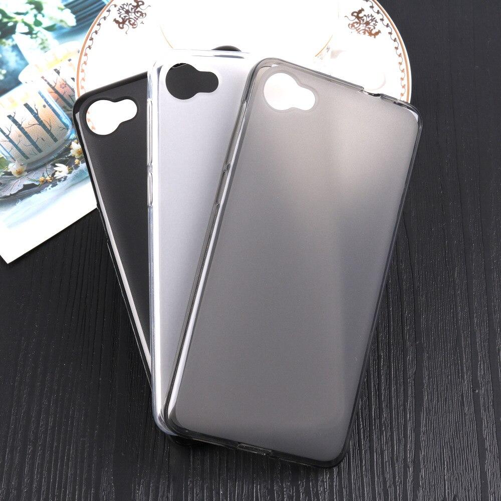 Para Alcatel A5 Led Flexible Slim TPU suave proteccción de goma de la contraportada mate para Alcatel One Touch A5 Led Anti-arañazos caso