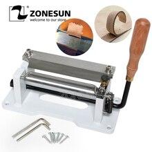 ZONESUN Machine à éplucher en cuir manuelle   Bricolage de 6 pouces, Machine à éplucher en cuir, séparateur de cuir