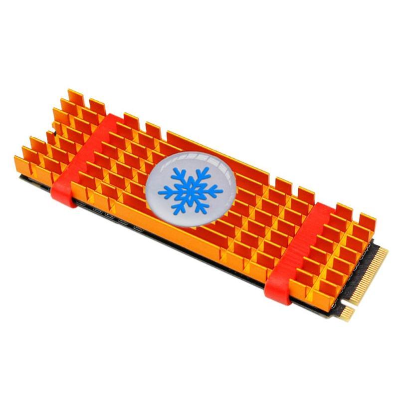 Алюминиевый сплав PCIe NVMe M.2 2280 SSD радиатор ноутбука ПК охлаждающий вентилятор памяти Золотой m2 ssd диск